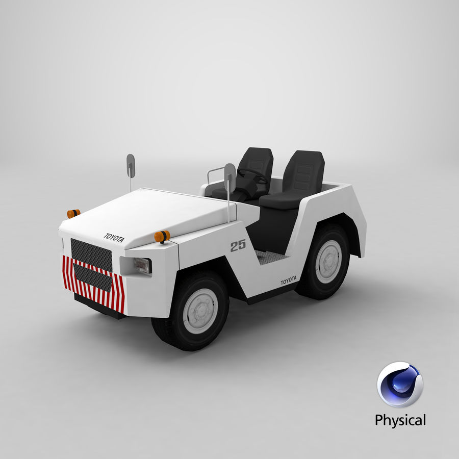 Tractor de equipaje Toyota TD-25 royalty-free modelo 3d - Preview no. 22