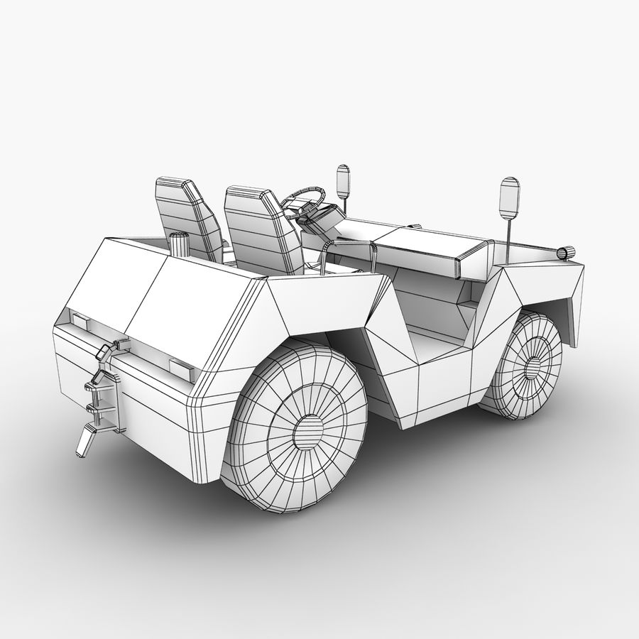 Tractor de equipaje Toyota TD-25 royalty-free modelo 3d - Preview no. 11