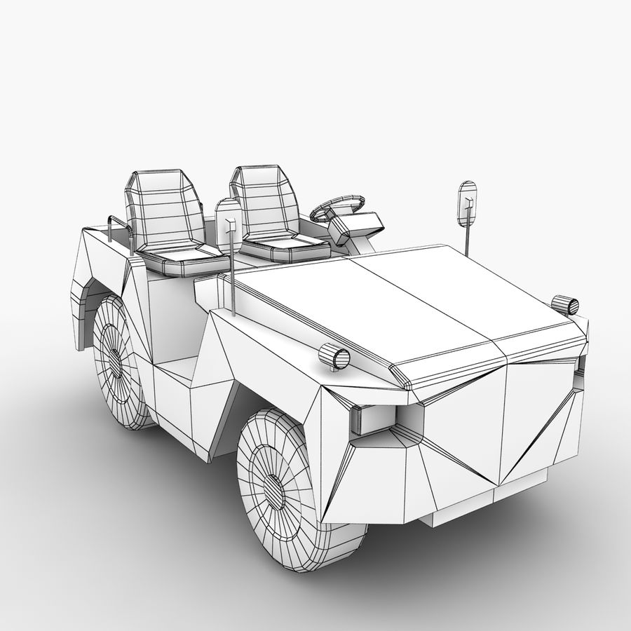 Tractor de equipaje Toyota TD-25 royalty-free modelo 3d - Preview no. 10