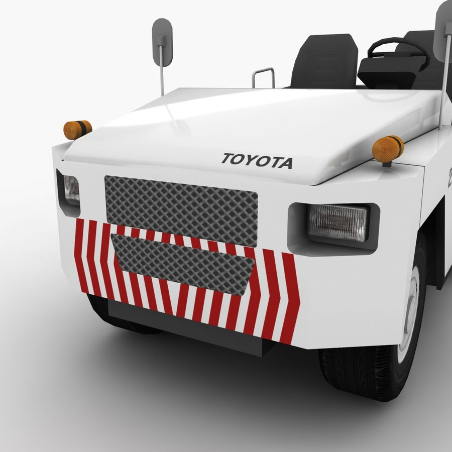 Tractor de equipaje Toyota TD-25 royalty-free modelo 3d - Preview no. 6