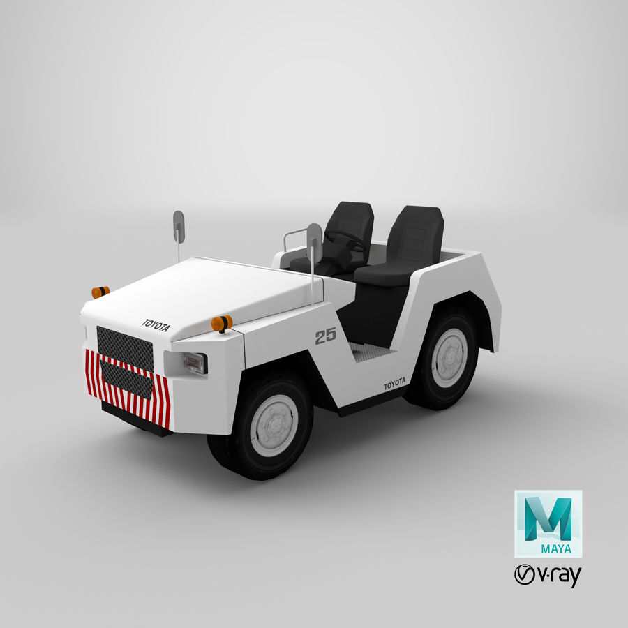 Tractor de equipaje Toyota TD-25 royalty-free modelo 3d - Preview no. 16
