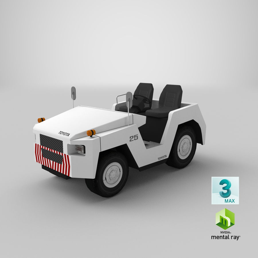 Tractor de equipaje Toyota TD-25 royalty-free modelo 3d - Preview no. 19