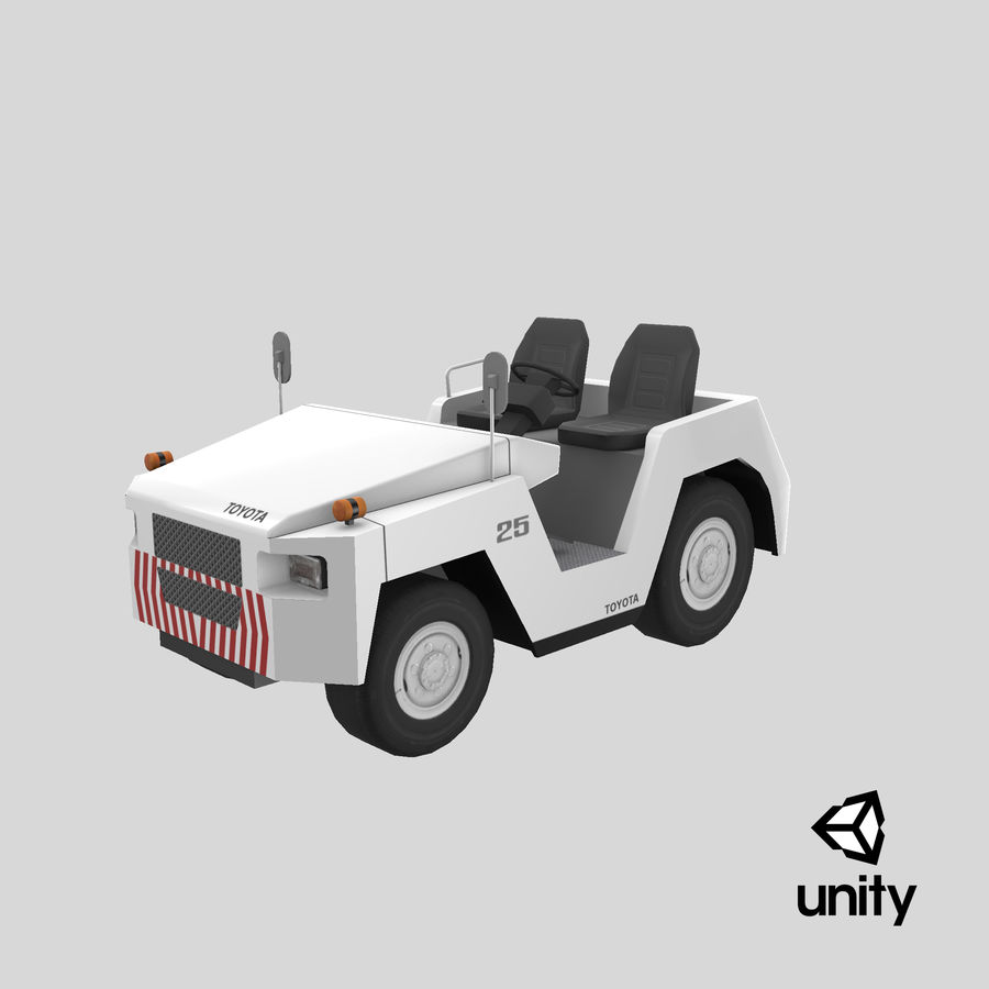 Tractor de equipaje Toyota TD-25 royalty-free modelo 3d - Preview no. 21