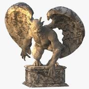 Каменная статуя горгульи 3d model
