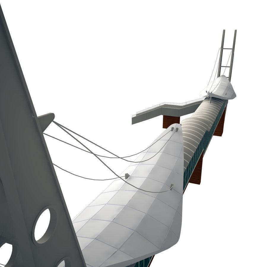 Footbridge royalty-free 3d model - Preview no. 4