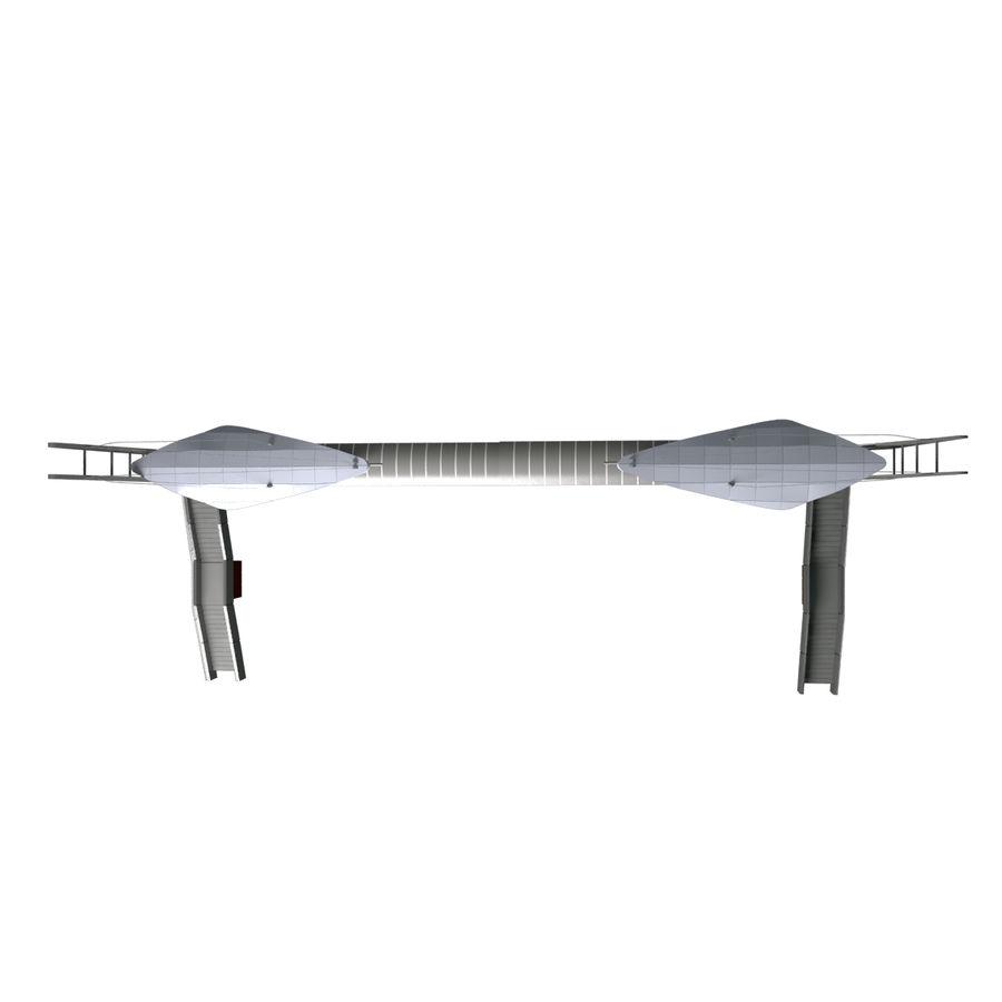 Footbridge royalty-free 3d model - Preview no. 5