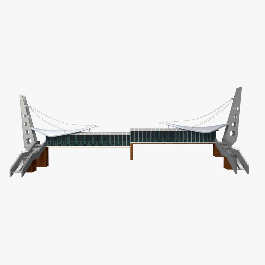 Footbridge royalty-free 3d model - Preview no. 1