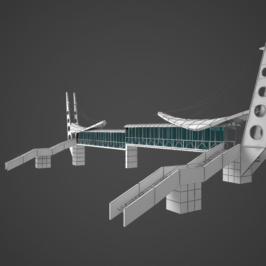 Footbridge royalty-free 3d model - Preview no. 7