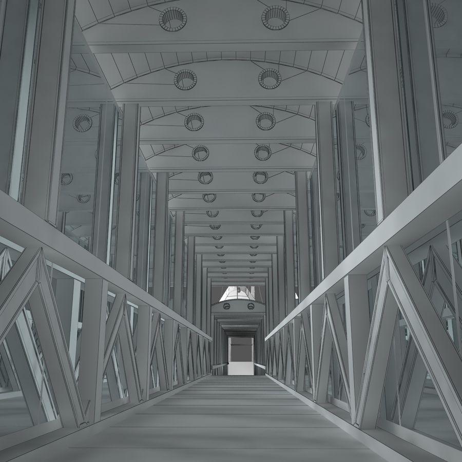 Footbridge royalty-free 3d model - Preview no. 9