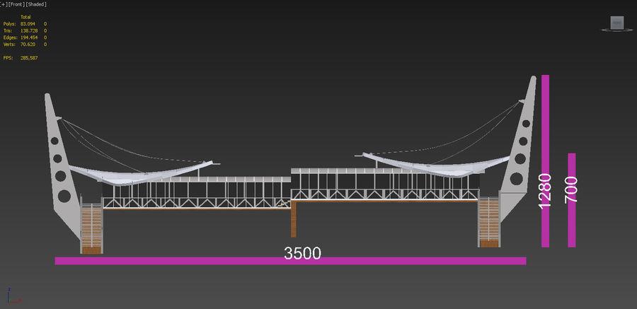 Footbridge royalty-free 3d model - Preview no. 10