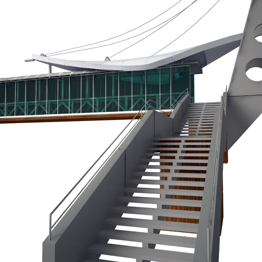 Footbridge royalty-free 3d model - Preview no. 3