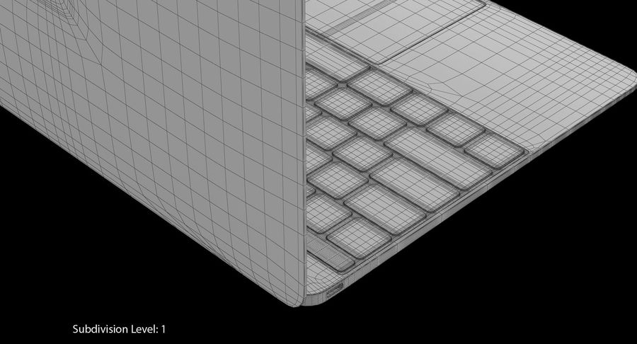 Apple MacBook Space Grey royalty-free 3d model - Preview no. 13