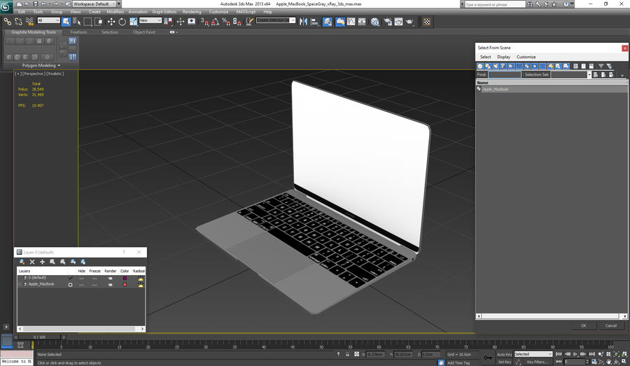 Apple MacBook Space Gray royalty-free 3d model - Preview no. 22