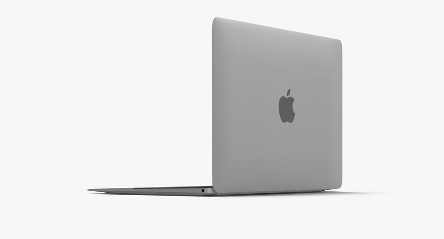Apple MacBook Space Grey royalty-free 3d model - Preview no. 6