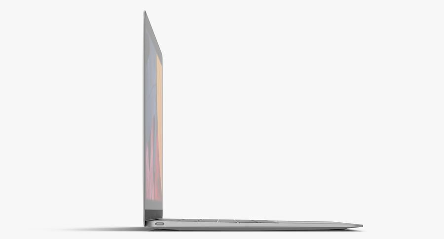 Apple MacBook Space Gray royalty-free 3d model - Preview no. 5