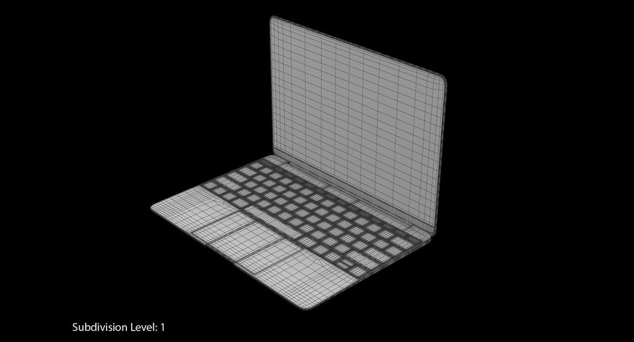 Apple MacBook Space Grey royalty-free 3d model - Preview no. 9