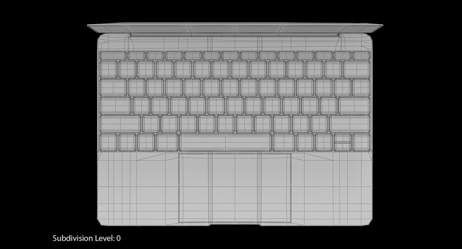 Apple MacBook Space Gray royalty-free 3d model - Preview no. 18