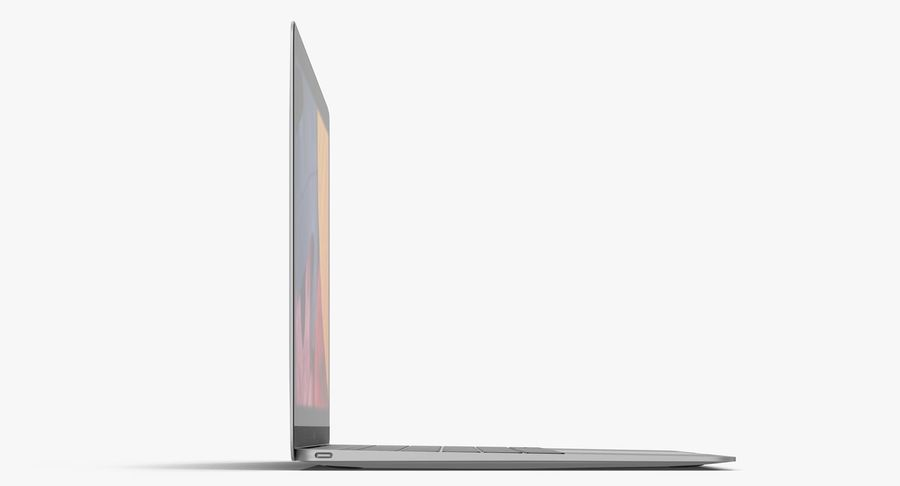 Apple MacBook Space Grey royalty-free 3d model - Preview no. 5