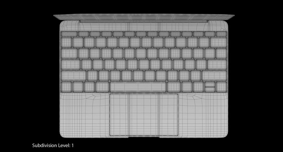 Apple MacBook Space Grey royalty-free 3d model - Preview no. 19