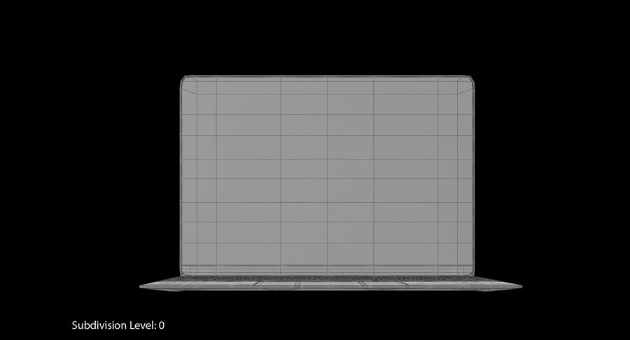 Apple MacBook Space Grey royalty-free 3d model - Preview no. 10