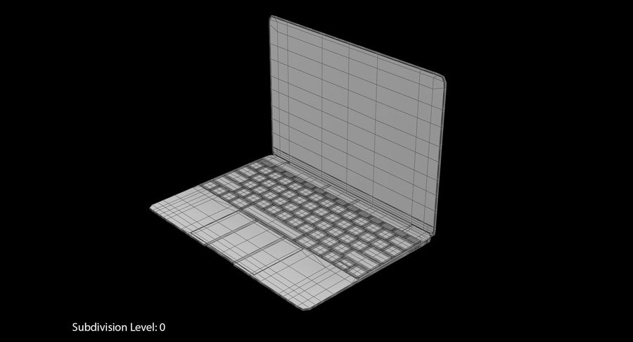 Apple MacBook Space Grey royalty-free 3d model - Preview no. 8