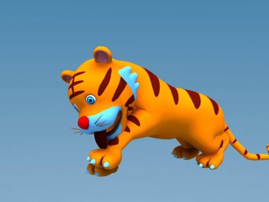 Tigre cartone animato modello d unknown max obj dae