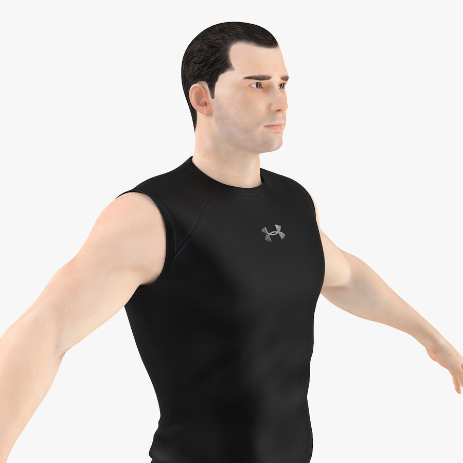 Athlète Homme royalty-free 3d model - Preview no. 2