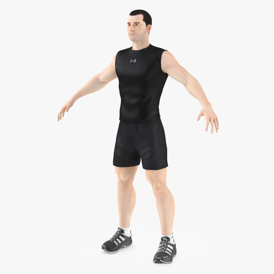 Athlète Homme royalty-free 3d model - Preview no. 1