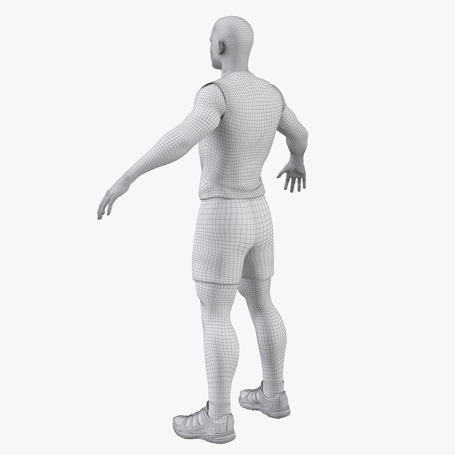 Athlète Homme royalty-free 3d model - Preview no. 9