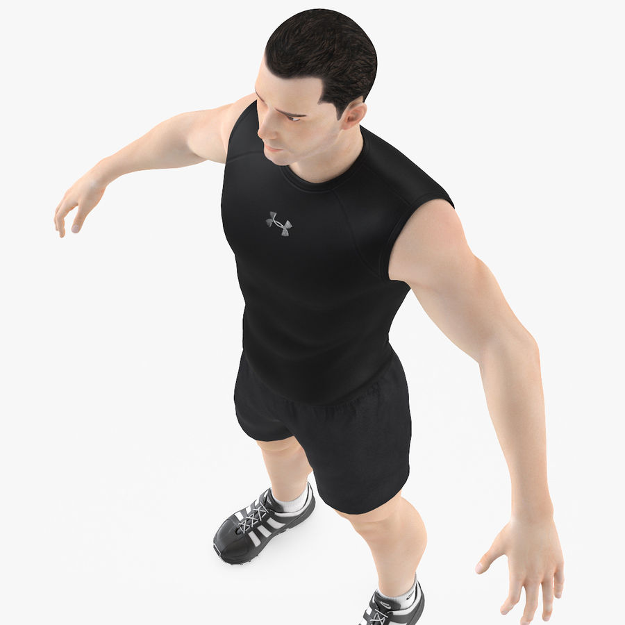 Athlète Homme royalty-free 3d model - Preview no. 6
