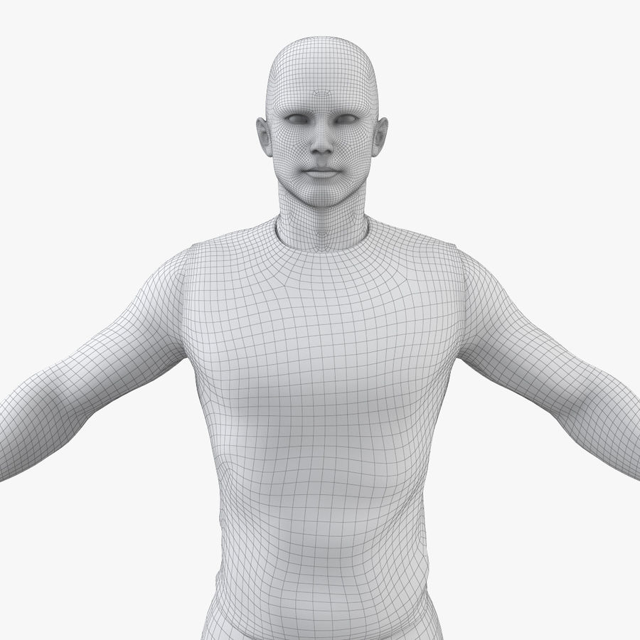 Athlète Homme royalty-free 3d model - Preview no. 11