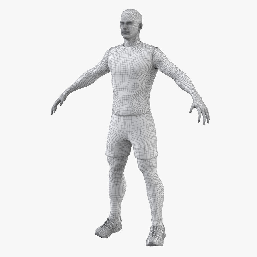 Athlète Homme royalty-free 3d model - Preview no. 10