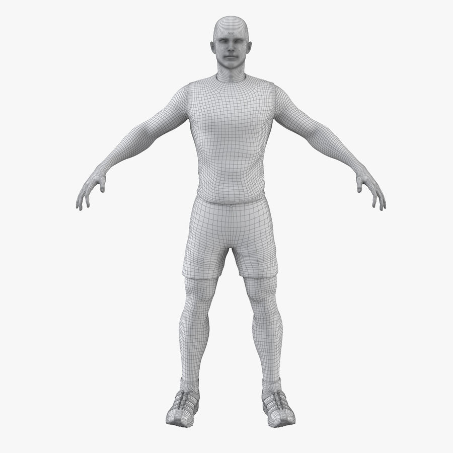 Athlète Homme royalty-free 3d model - Preview no. 8