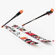 滑雪黑钻石 3d model