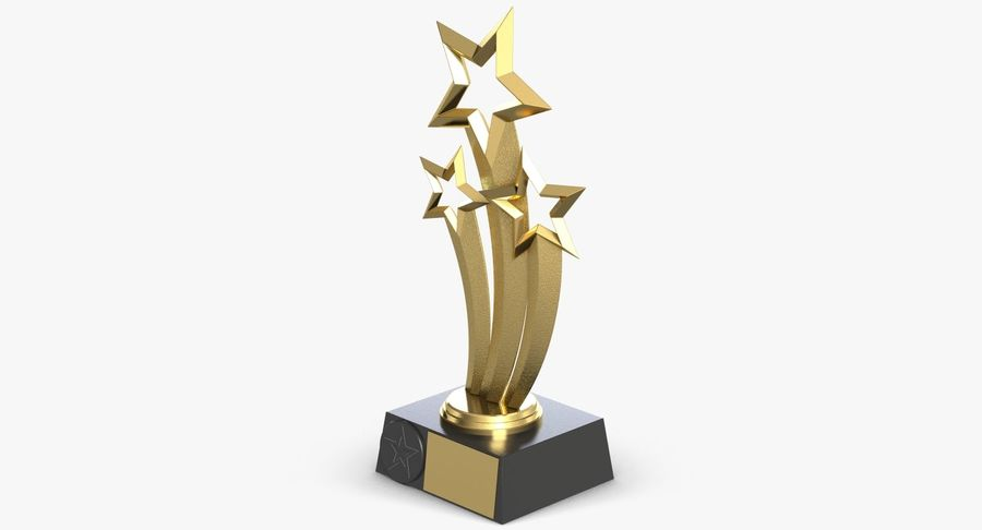 Award Trophy 1 royalty-free 3d model - Preview no. 5