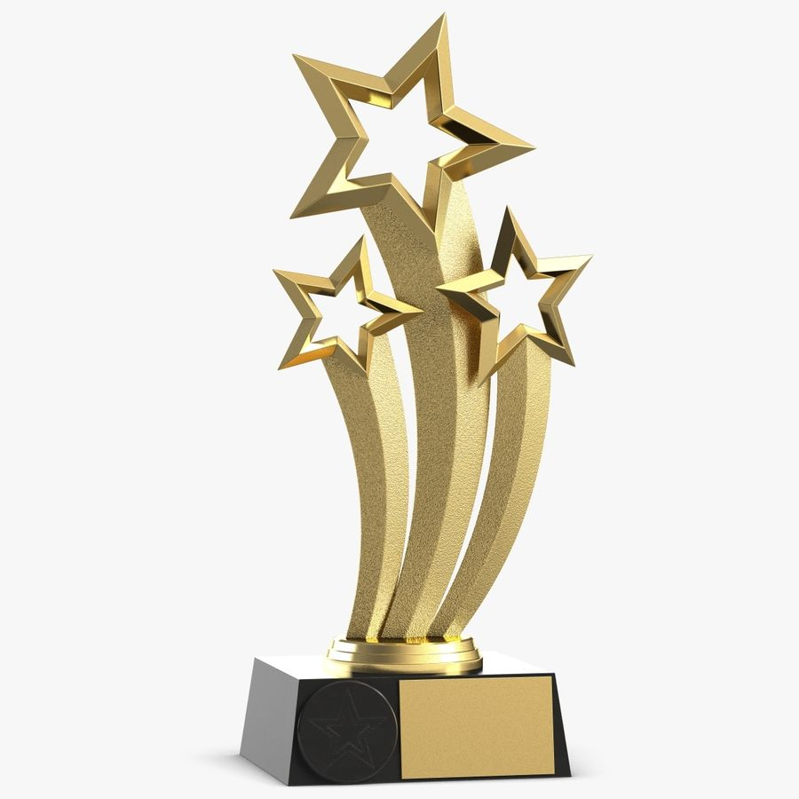 Award Trophy 1 royalty-free 3d model - Preview no. 1