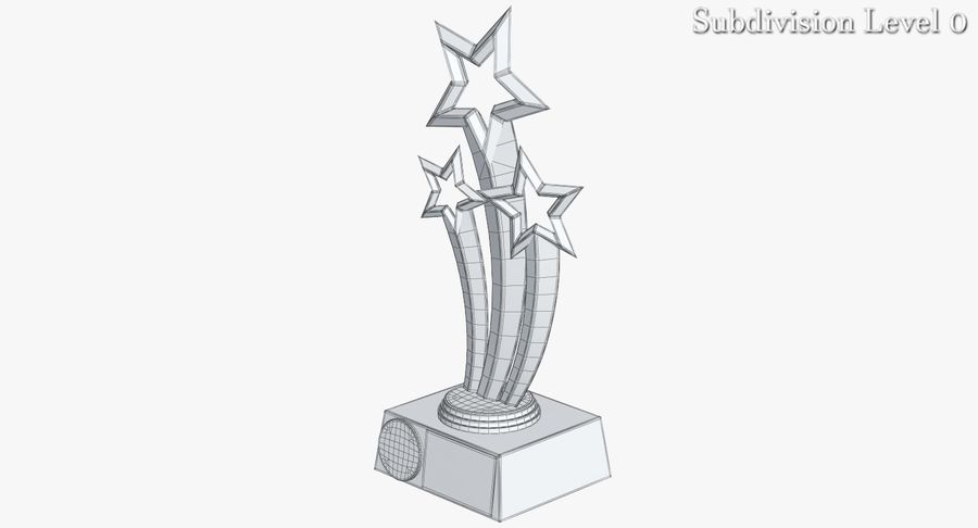 Award Trophy 1 royalty-free 3d model - Preview no. 12