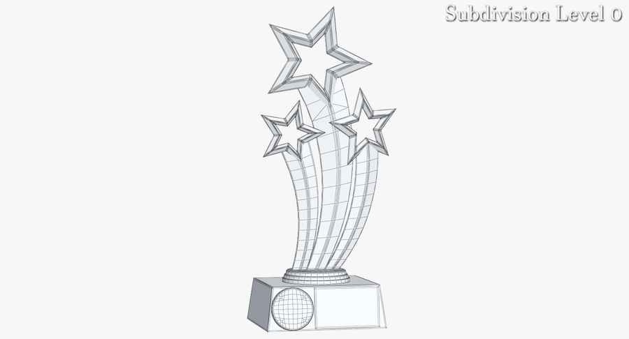 Award Trophy 1 royalty-free 3d model - Preview no. 10