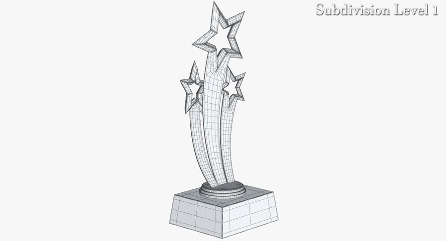 Award Trophy 1 royalty-free 3d model - Preview no. 15