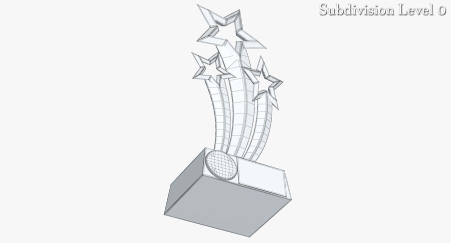 Award Trophy 1 royalty-free 3d model - Preview no. 8