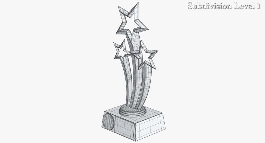 Award Trophy 1 royalty-free 3d model - Preview no. 13