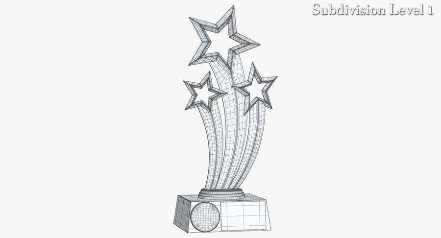 Award Trophy 1 royalty-free 3d model - Preview no. 11