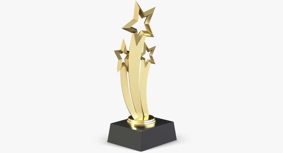 Award Trophy 1 royalty-free 3d model - Preview no. 6