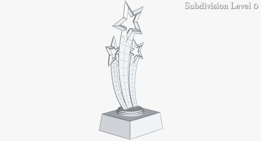 Award Trophy 1 royalty-free 3d model - Preview no. 14