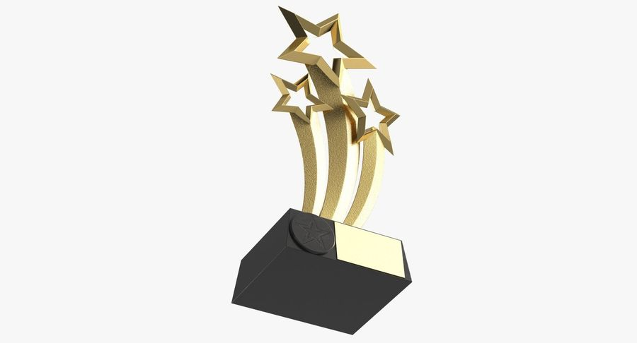 Award Trophy 1 royalty-free 3d model - Preview no. 4