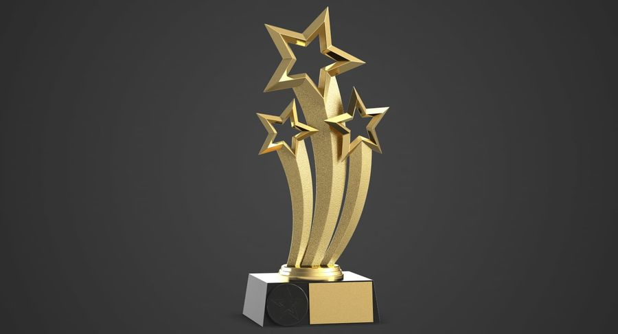 Award Trophy 1 royalty-free 3d model - Preview no. 3