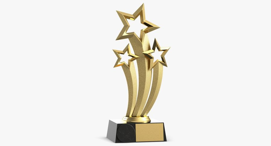 Award Trophy 1 royalty-free 3d model - Preview no. 2