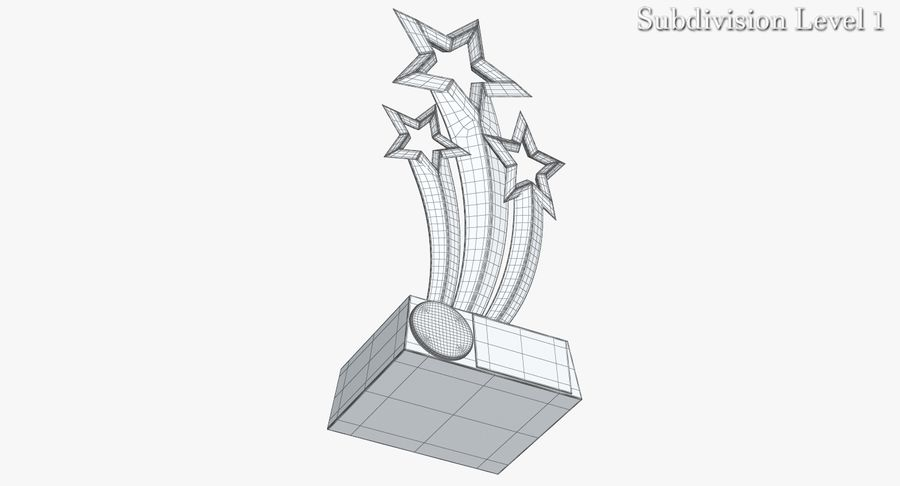 Award Trophy 1 royalty-free 3d model - Preview no. 9