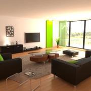 现代客厅 3d model