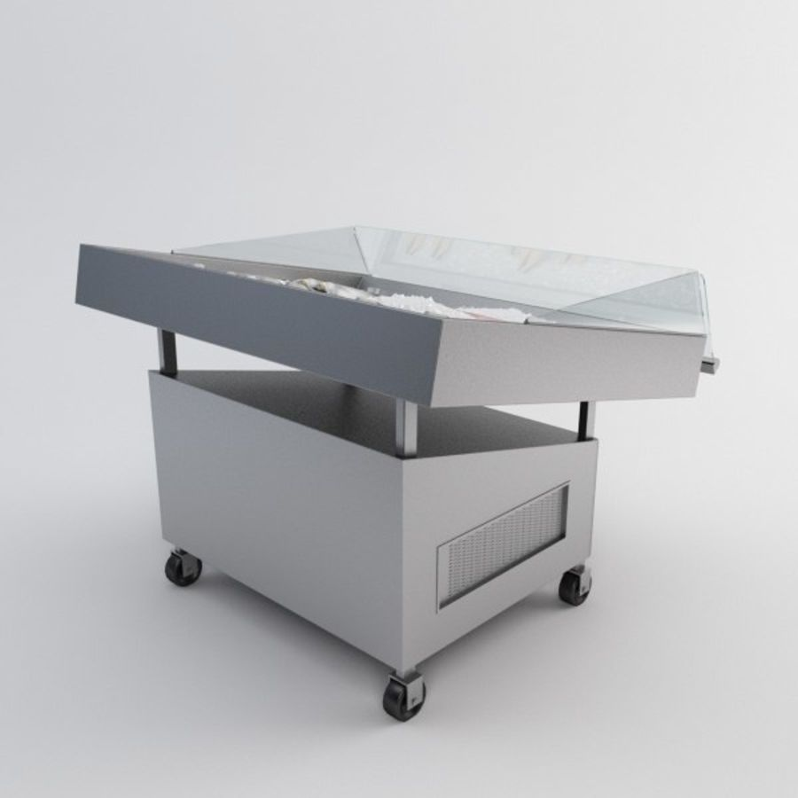 Koelkasttafel voor vissen royalty-free 3d model - Preview no. 5